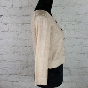 Calvin Klein Sweaters - Calvin Klein gold shimmer sweater size Medium